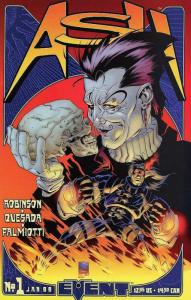ASH FIRE AND CROSSFIRE (1999 EVENT COMICS) 1-2 COMICS BOOK
