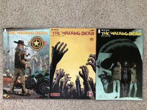 WALKING DEAD - Three (3) issue lot - #1 (retailer reprint), #163, TWD DAY SPECIA