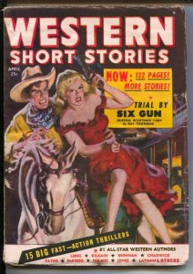 Western Short Stories  4/1949-Red Circle-Allen Anderson GGA cover-All-Star We...