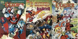 EXCALIBUR 3-PACK Air Apparent, Mojo Mayhem, Sword Drawn COMICS BOOK