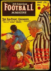 All-American Football Pulp 2nd Fall 1947- Duane Yarnell VG