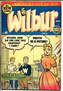 Wilbur #48 1953-Archie-Good Girl Art-Katy Keene-soda shop cover-VG