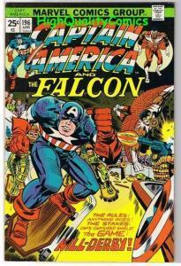 CAPTAIN AMERICA #196, VF, Jack Kirby, Falcon, 1968, more CA in store