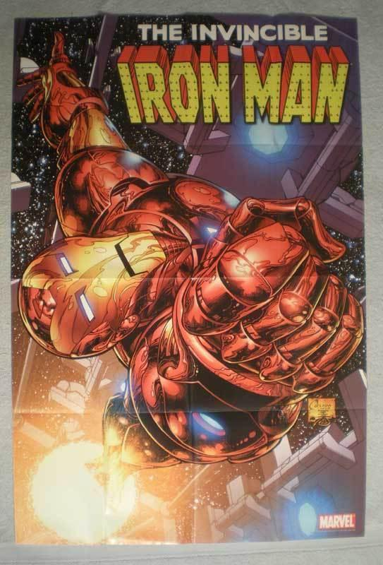 INVINCIBLE IRON MAN Promo Poster, 24x36, 2008, Unused, more Marvel in store