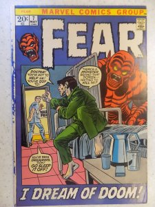 FEAR # 7 MARVEL BRONZE HORROR NEWSSTAND DYE ON EDGE NICE BOOK STILL