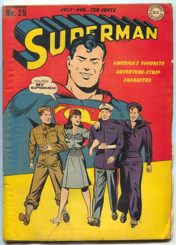 Superman Comics #29 1944-- DC Golden Age VG