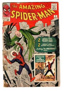 AMAZING SPIDER-MAN #2 comic book 1963-MARVEL-STEVE DITKO-FIRST VULTURE