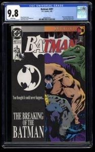 Batman #497 CGC NM/M 9.8 White Pages Bane Breaks Batman's back!