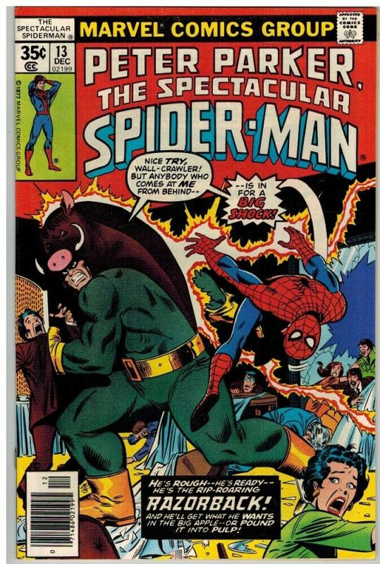 PETER PARKER 13 VF+ Dec. 1977