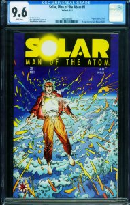SOLAR MAN OF THE ATOM #1 CGC 9.6-1991-VALIANT 1st issue 1996999001