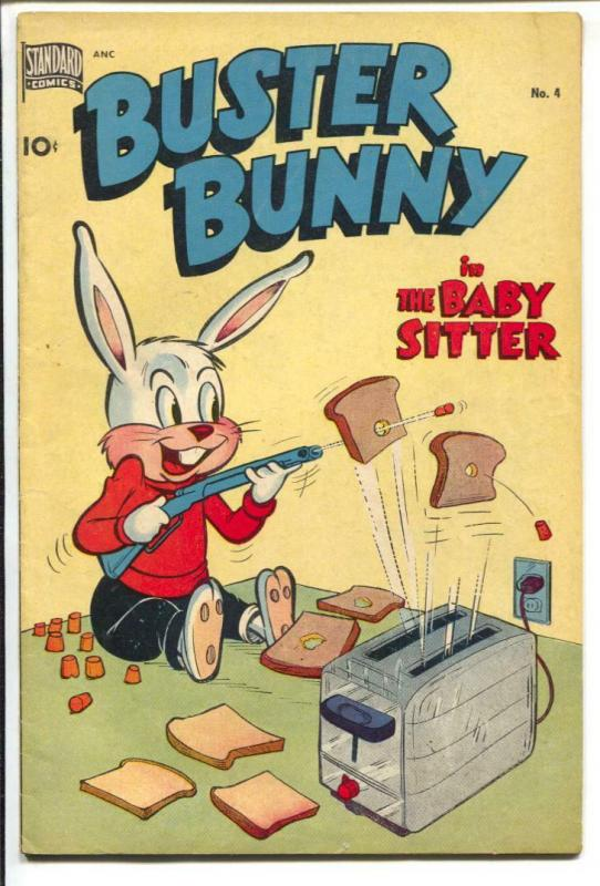 Buster Bunny #4 1950-Standard-funny animals-toaster target practice-FN+