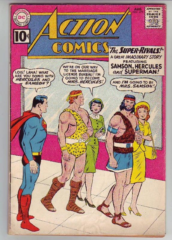 Action Comics #279 (Aug-61) FN/VF Mid-High-Grade Superman, Supergirl