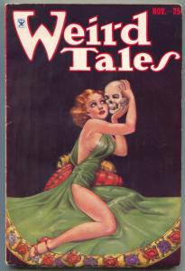 Weird Tales Pulp 11/1933- BRUNDAGE SKULL COVER- Clark Ashton Smith