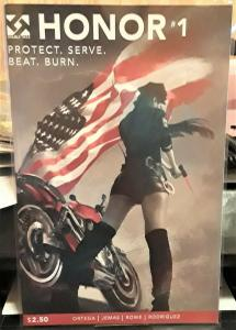 DOUBLE TAKE COMICS-HONOR-#1-PROTECT, SERVE, BEAT, BURN-DATED:2015