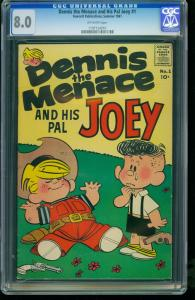 DENNIS THE MENACE AND HIS PAL JOEY #1-CGC 8.0-SOUTHERN STATES - 1197124010