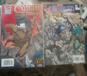 CONAN  THE ADVENTURER    # 1+ 13  1994 MARVEL  SWORD AND SORCERY MEDEVIL FOIL
