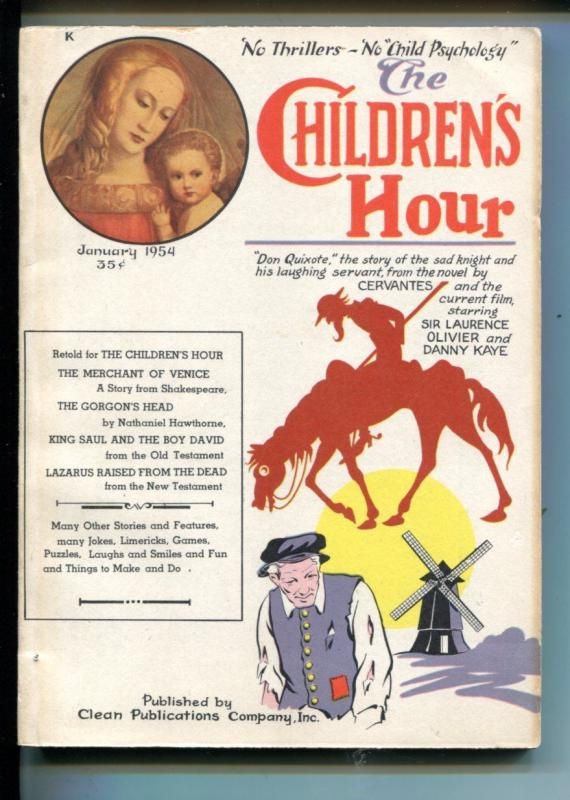 THE CHILDREN'S HOUR #1-01/1954-COMICS-PUZZLES-CRAFTS--SOUTHERN STATES-fn/vf