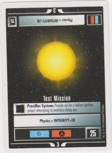 1995 Star Trek Trading Game Card Test Mission