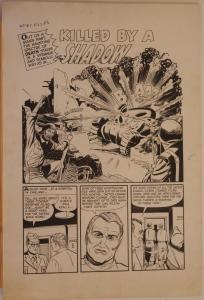 AL GORDON original art, WARFRONT #8, 27 28 29 30, 1952, 4 pgs, PTSD, Newsman,War