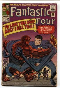 FANTASTIC FOUR #42 comic book 1965-JACK KIRBY-THING HUMAN TORCH