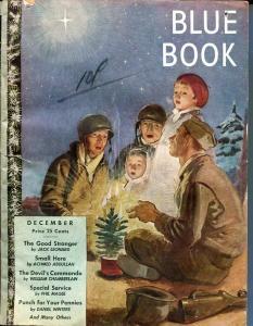 BLUE BOOK PULP-DEC-1944-FR-STOOPS COVER-BEDFORD-JONES-MAGEE-WILLIAM BR VG/FN