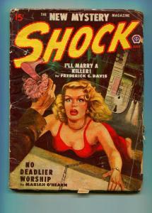 SHOCK JULY 1948 #3-POPULAR PUBLISHING-JOHN D MACDONALD-VG