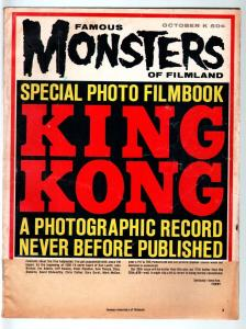 FAMOUS MONSTERS OF FILMLAND #25-KING KONG PHOTO FILMBOOK-1963-4E ACKERMAN P/FR