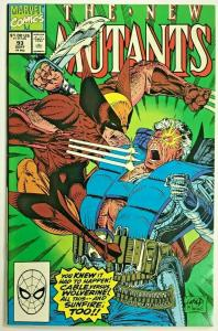 NEW MUTANTS#93 VF/NM 1991 CABLE VS WOLVERINE MARVEL  COMICS