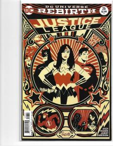 JUSTICE LEAGUE #26 - NM - REBIRTH VARIANT 1ST APP SUPER KIDS - MODERN AGE KEY