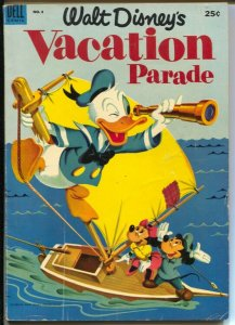 Walt Disney's Vacation Parade #4 1953-Dell-Mickey Mouse-Donald Duck-VG