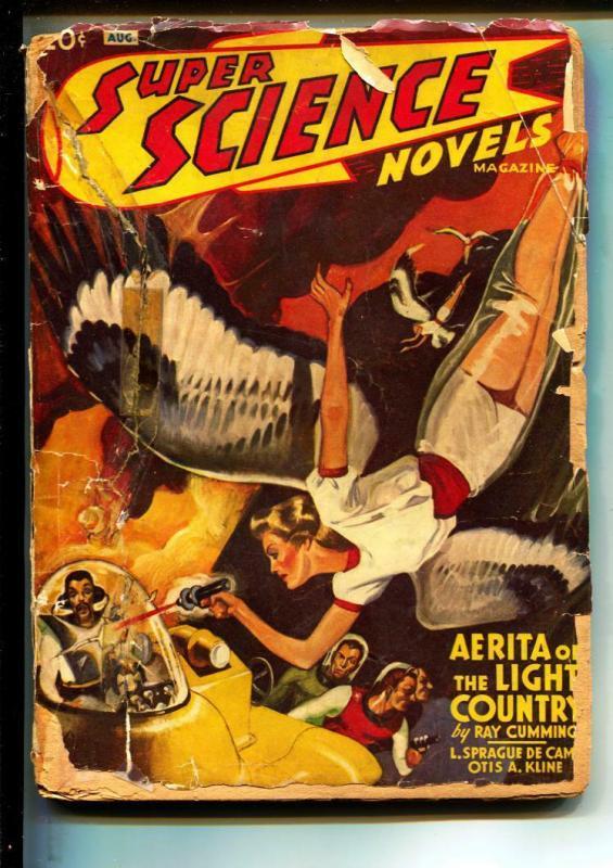Super Science Novels-Pulps-8/1941-Kerry Lash-Ray Cummings