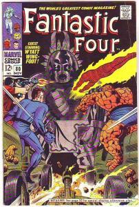 Fantastic Four #80 (Nov-68) FN Mid-Grade Fantastic Four, Mr. Fantastic (Reed ...
