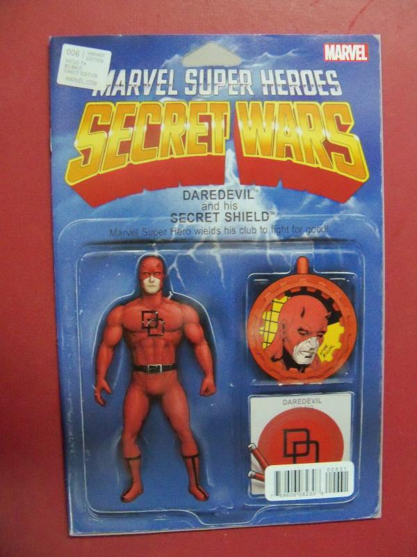 MARVEL SUPER HEROS SECRET WARS #6 DAREDEVIL ACTION FIGURE  VARIANT COVER, MARVEL