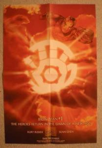 IRON MAN #1 Promo Poster, 12x18, 1997, Unused, more in our store