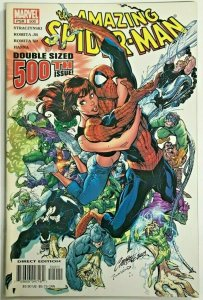 AMAZING SPIDER-MAN#500 VF 2003 J SCOTT CAMPBELL COVER MARVEL COMICS