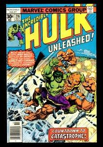 Incredible Hulk #216 NM- 9.2