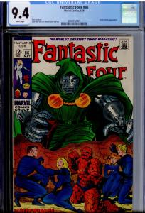 Fantastic Four #86 CGC 9.4 WHITE pages  Doctor Doom