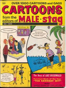 Cartoons From The Editors of Male & Stag Magazine #1 1965- Davis DeCarlo