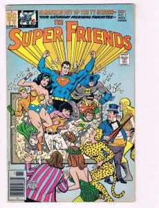 Super Friends # 1 VF DC Bronze Age Cartoon Series Comic Book Batman Superman AD1