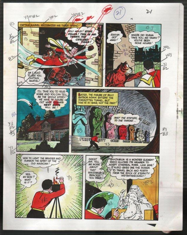 Hand Painted Color Guide-Capt Marvel-Shazam-C35-1975-DC-page 22-Mr Tawney-VG