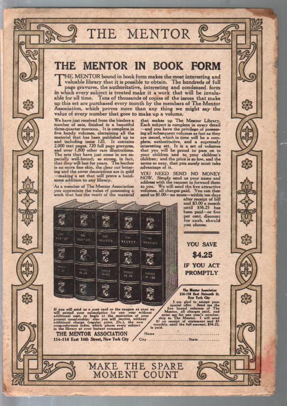Mentor Calendars and Almanacs-1/1/1919-CF Talman-Aztec Stone calendar-VG/FN