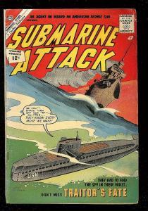 SUBMARINE ATTACK #36 1962-CHARLTON-GIORDANO-ATOMIC SUB VG