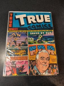 ​TRUE COMICS #39 GOLDEN AGE FDR ISSUE