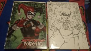 Harley Quinn and Poison Ivy #1 NM Variant Set by Dawn McTeigue