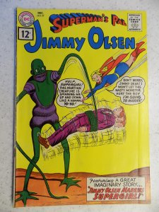 JIMMY OLSEN # 57 DC SILVER SUPERMAN ACTION ADVENTURE SUPERGIRL