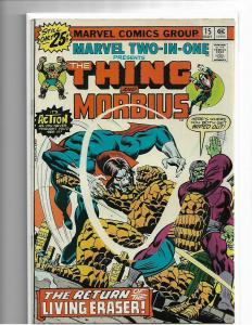 MARVEL TWO-IN-ONE #15 - VF/NM - EARLY MORBIUS APP - HIGH GRADE BRONZE AGE KEY