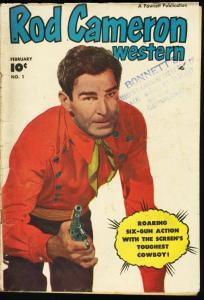 ROD CAMERON WESTERN #1-1950-FAWCETT GOLDEN AGE G/VG