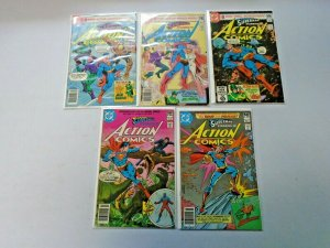 Superman Action Comics Lot 50¢ Covers From #511-523 10 Diff Avg 8.0 VF (1980-81)