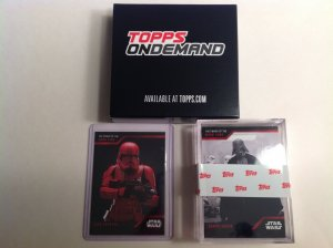 Topps On Demand Star Wars The Power of the Dark Side 25 card set & Sith Trooper