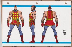 Official Handbook of the Marvel Universe Sheet- Ares